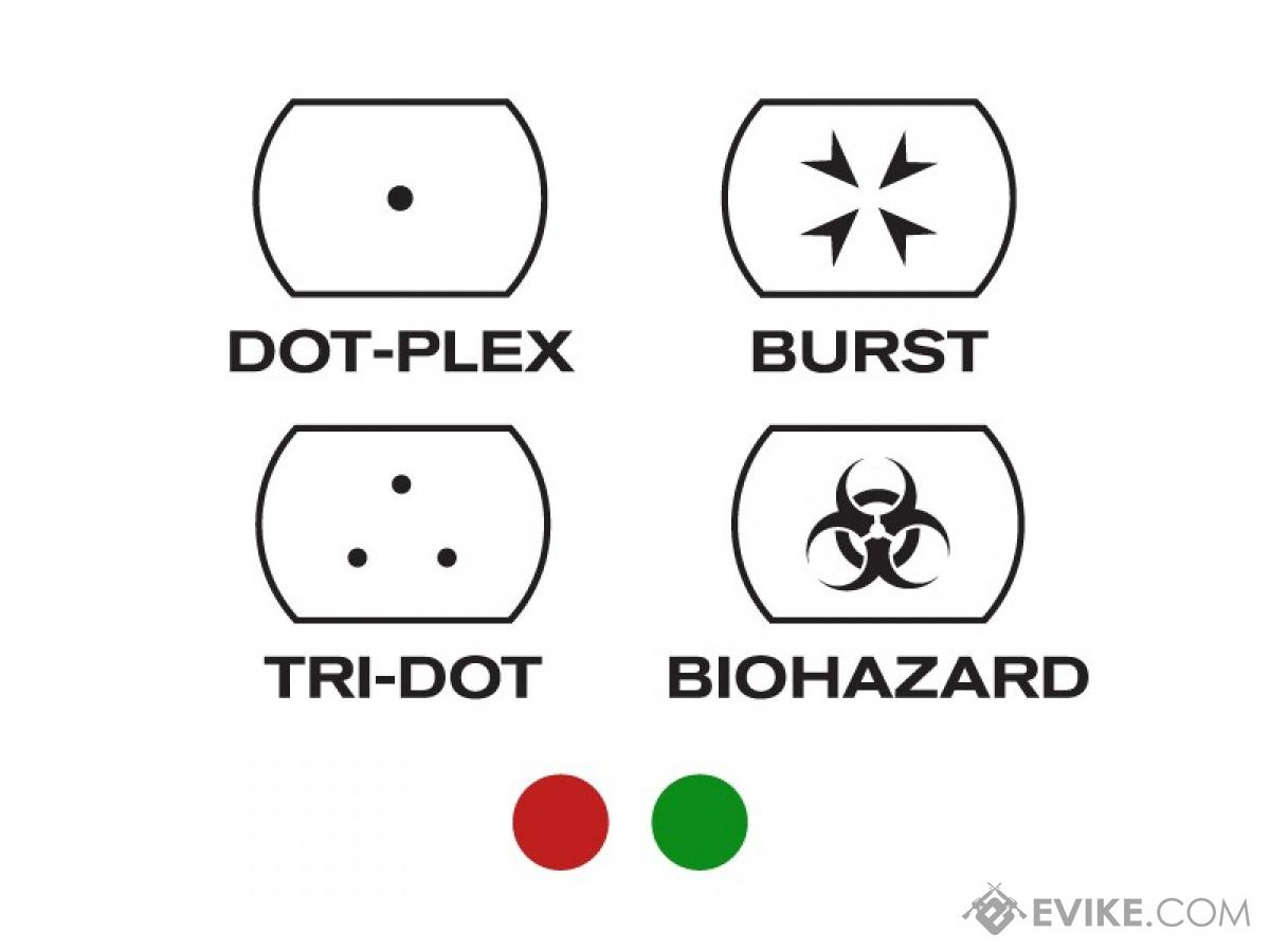Evike Panorama Red Green Dot Type Spec Ops Reticle