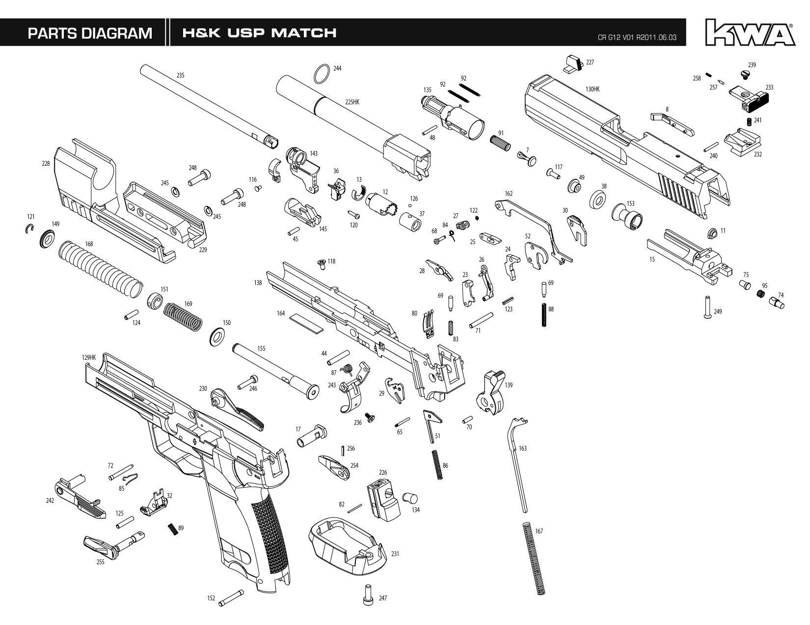 Heckler Amp Koch Umarex Full Metal Usp Match Ns2 Airsoft Gas Blowback Gun By Kwa