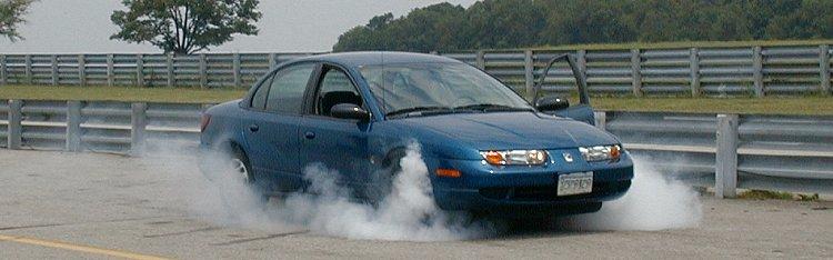 Tire smoking Saturn SL2