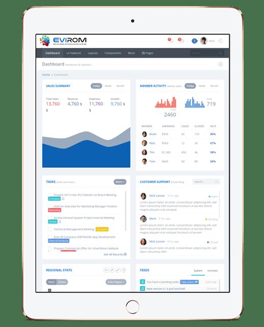 Aplicaciones web, aplicaciones en la nube y WebApss a medida, rápidas y fiables - ipad Evirom
