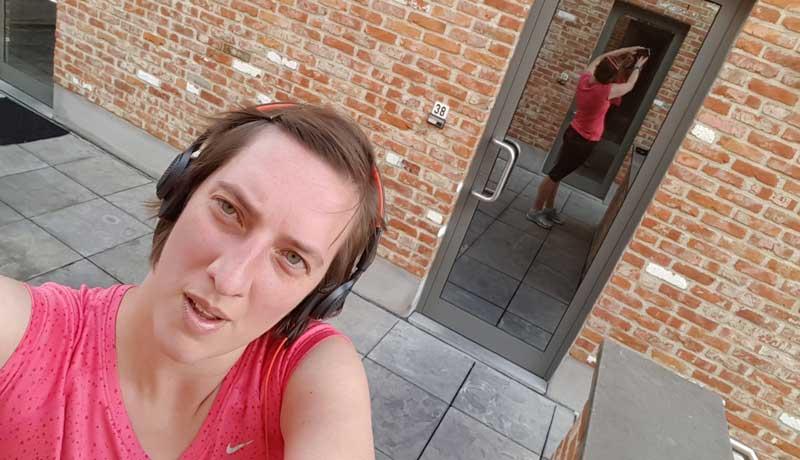 Running-selfie