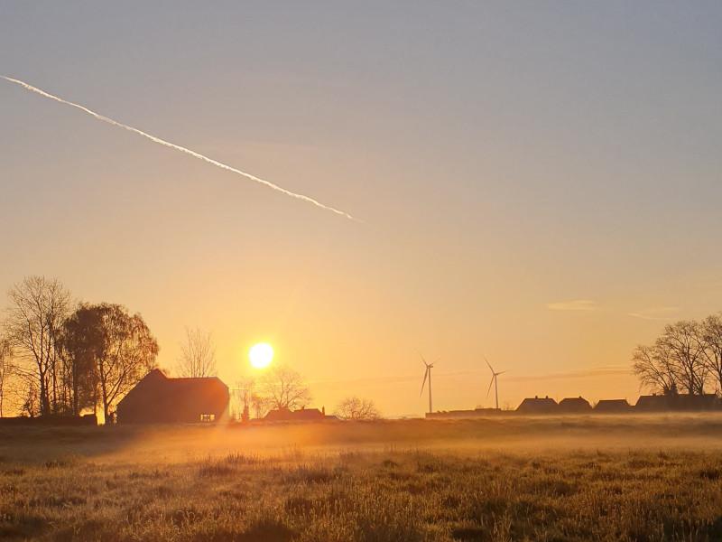 kleine gelukjes: zon zien opkomen tijdens een looptoertje