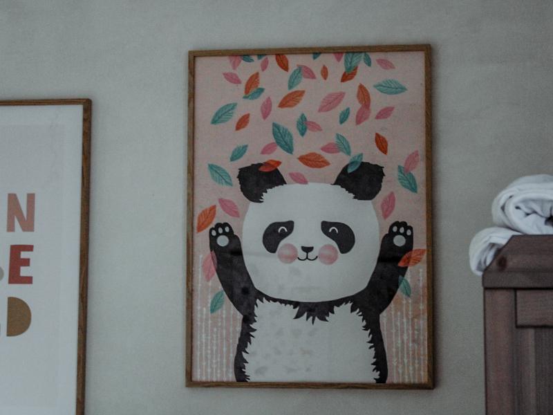 Pandaposter wanddecoratie
