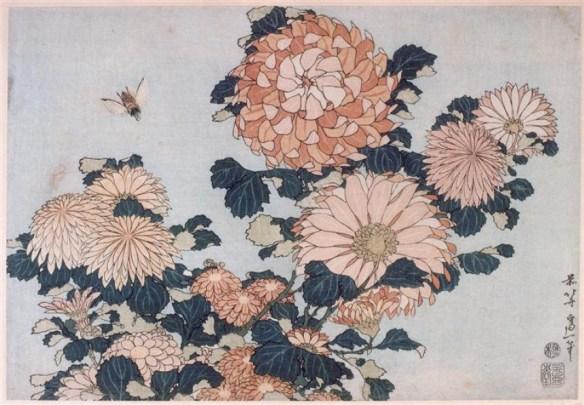 katsushika-hokusai_chrysanthemums-and-horsefly