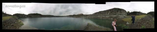 360°­­­­ image of Marmora Open Pit Mine From the Water