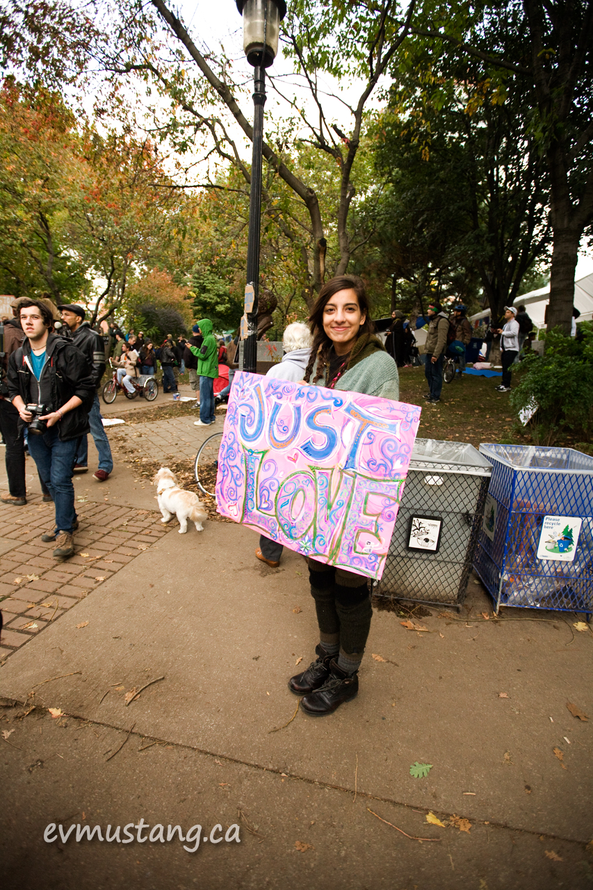 image of protestor at Occupy Toronto