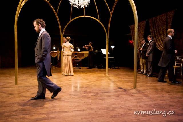 image of performers warming up before a performance of From the House of Mirth, Coleman Lemieux & Co. at the Market Hall