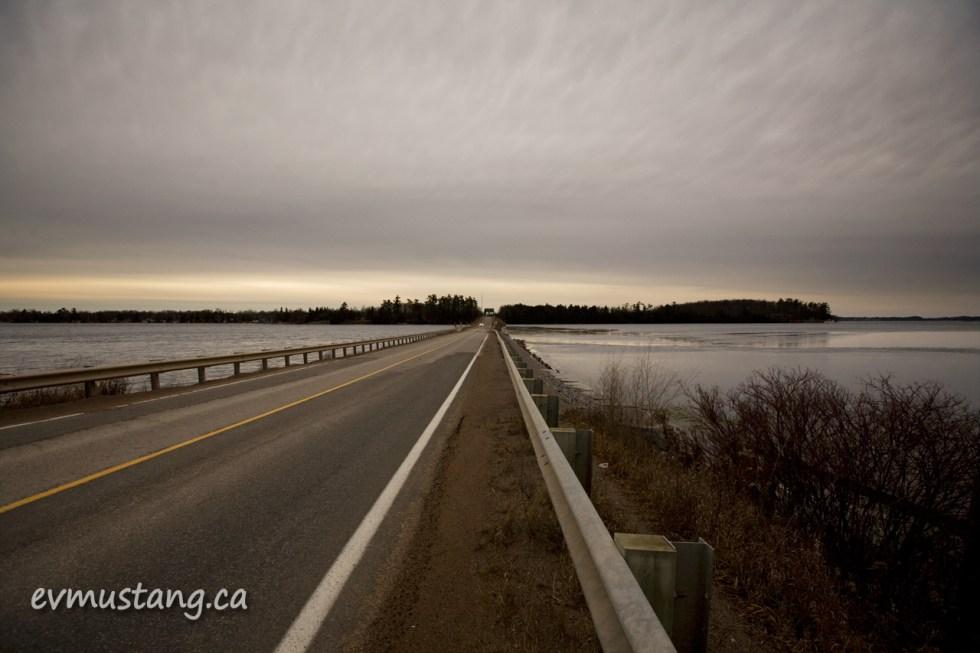 image of blackpool road bridge in winter