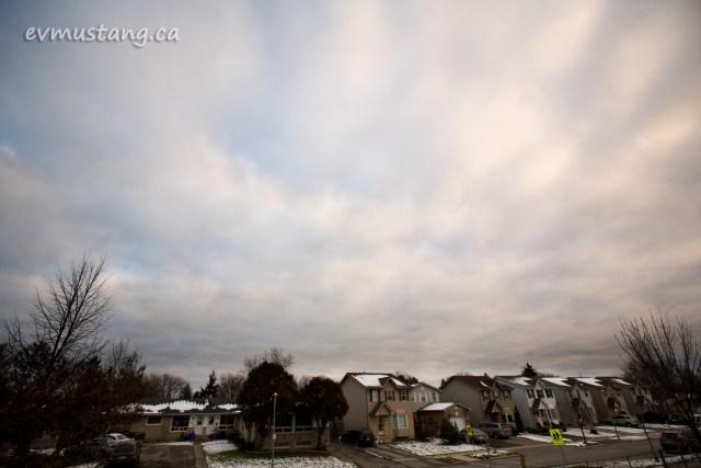 image of suburban street in winter
