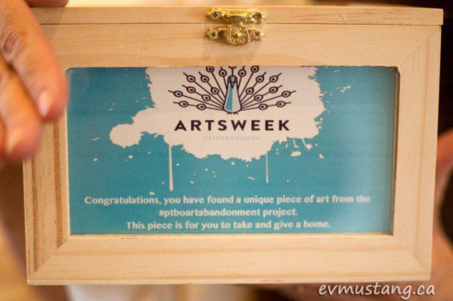 image of secret box with abandoned art for Artsweek 2014