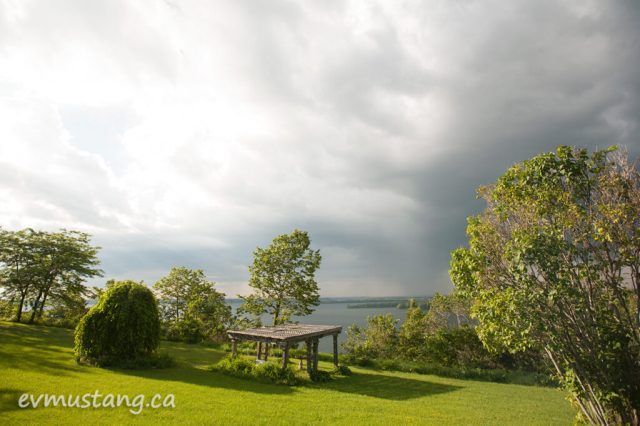 image of gazebo at lake on the mountain, picton, ontario