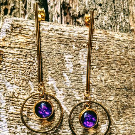 boucles tiges dorées violet profond(1)