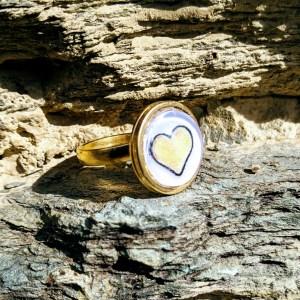 bague dorée coeur de soleil réglable en acier inoxydable doré 14mm 14 euros 2 (1)