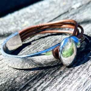demi jonc ovale cuivré evol bijoux