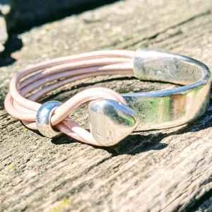 demi jonc pointe rose irisé evol bijoux