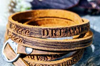 Gamme ma déclaration bracelet cuir homme femme evolbijoux