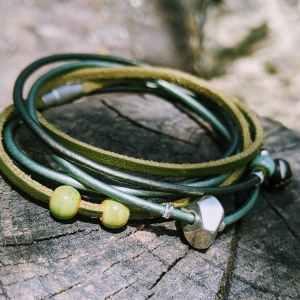 bracelet auprès de mon arbre vert evolbijoux