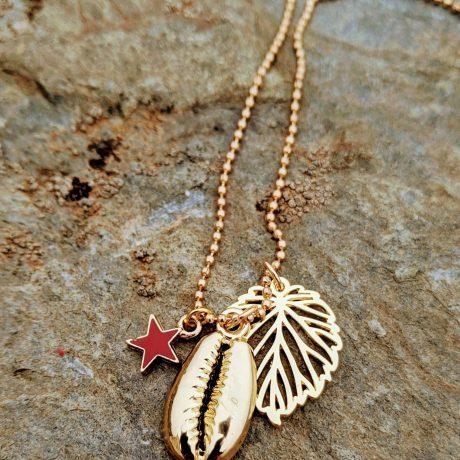 sautoir doré wummer vibes l'étoile rouge evolbijoux (2)