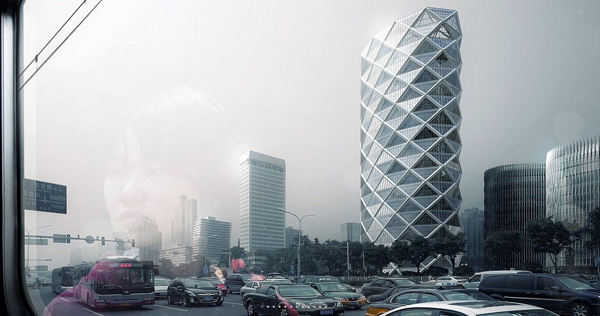 Guangzhou, China, SOM, Skidmore, Owings & Merrill, Poly International Plaza, Brian Lee, Beijing, tower, grid