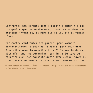 Confronter ses parents ?