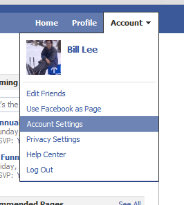 "Facebook ""Account Settings"""