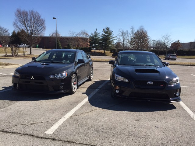 Mitsubishi Evolution X vs 2015 Subaru WRX STI 1