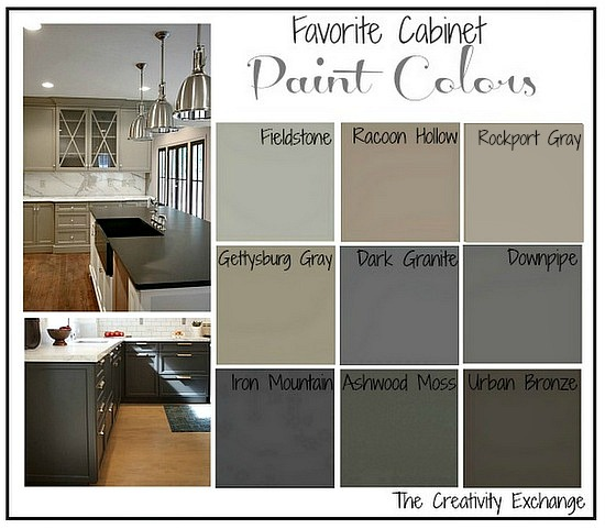 Favorite-Kitchen-Cabinet-Paint-Colors-Friday-Favorites-The- & Tips + Tricks for Painting Oak Cabinets - Evolution of Style
