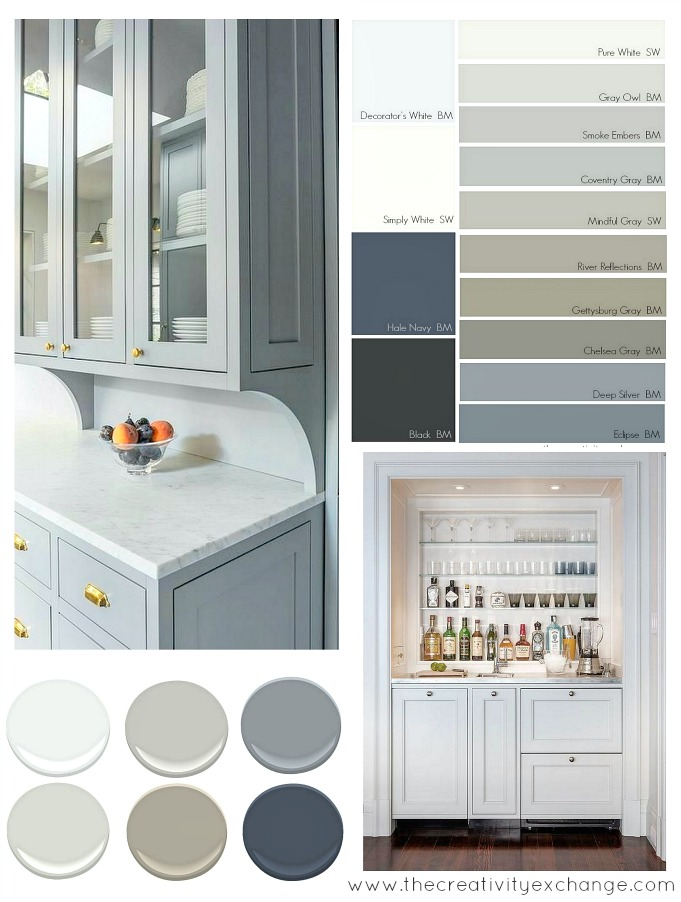 Popular-and-versatile-cabinet-paint-colors-for-kitchen-bath-and-built-ins.-The-Creativity-Exchange-4