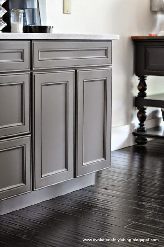 Two Toned Gray Kitchen Cabinets