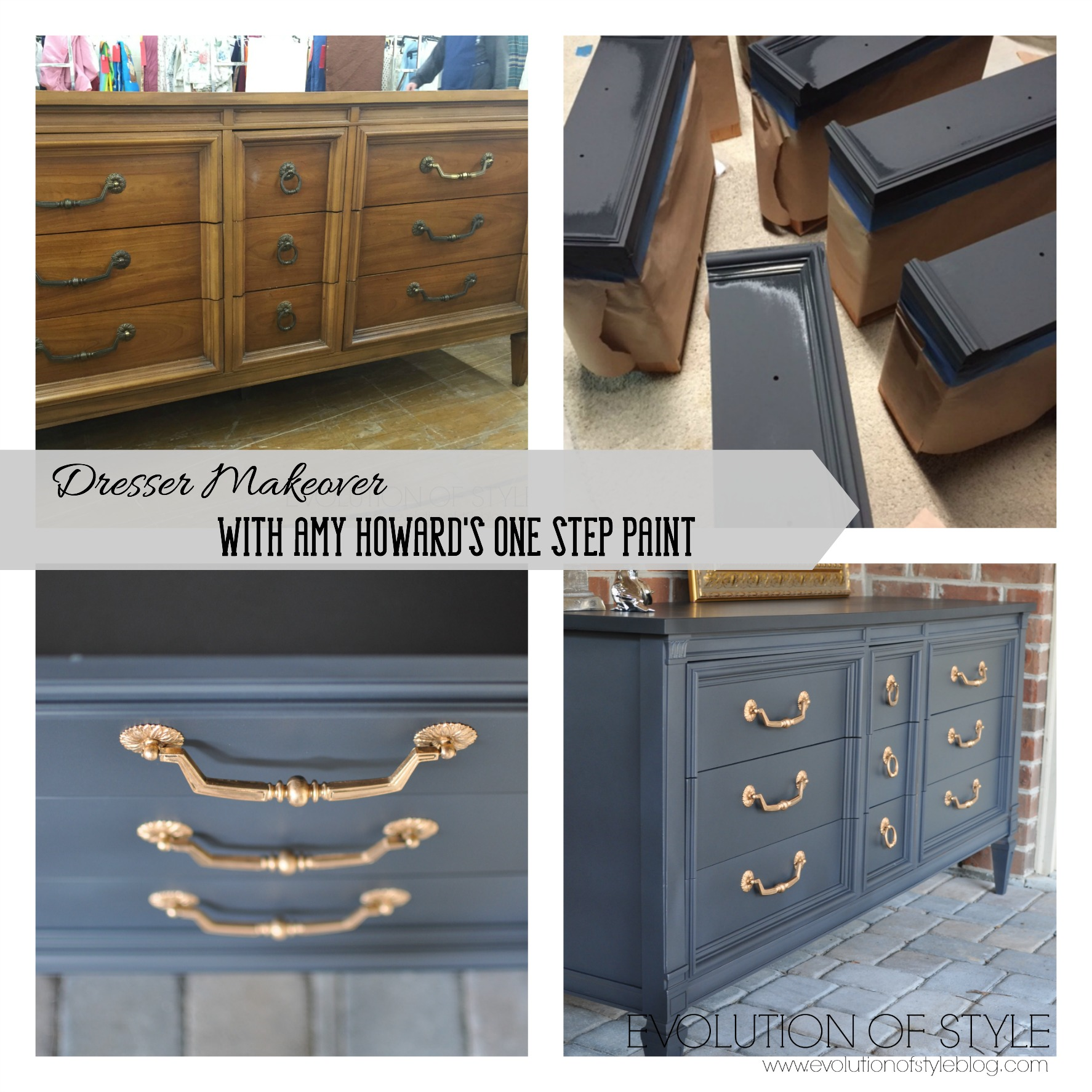 Dresser Transformed With Amy Howard S One Step Paint Evolution Of