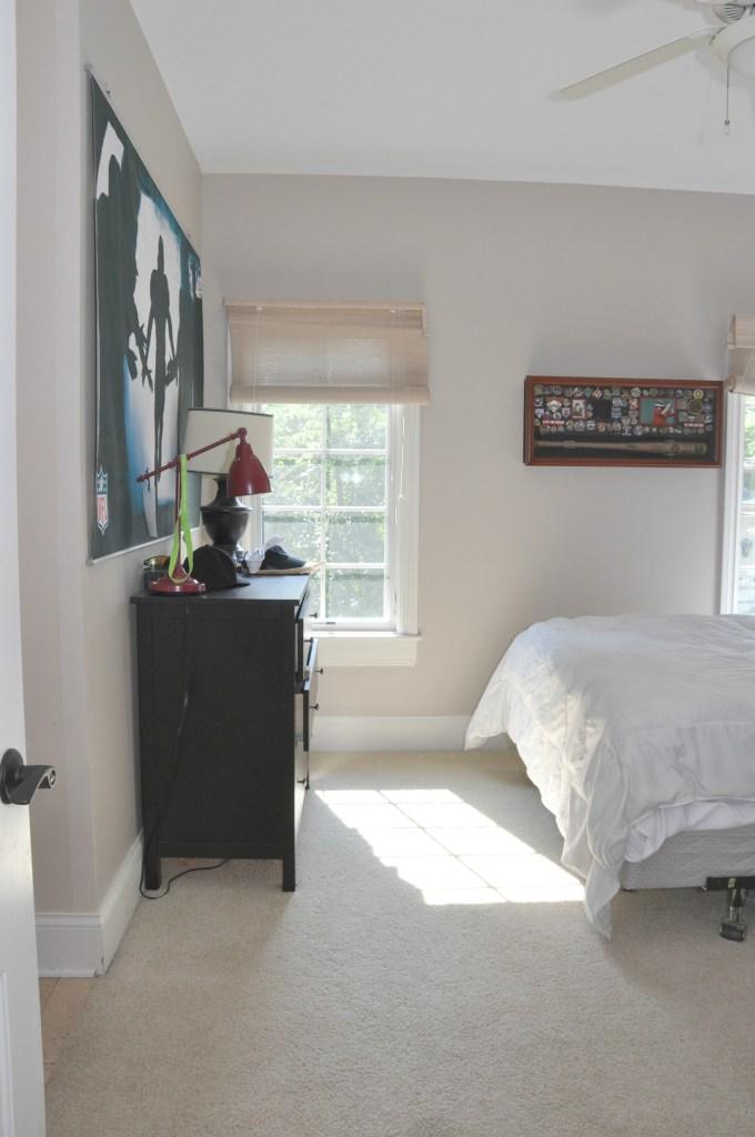 teen boy's bedroom before