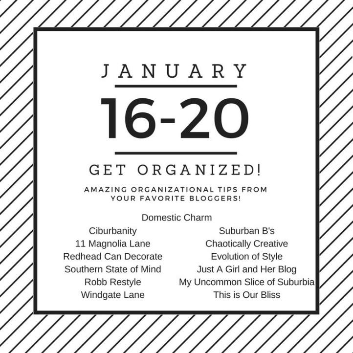 Get Organized Blog Hop