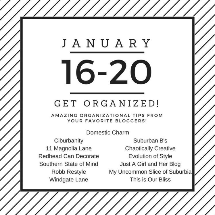 Get Organized Blog Hop