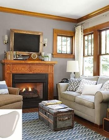 Oak Trim with Gray Walls
