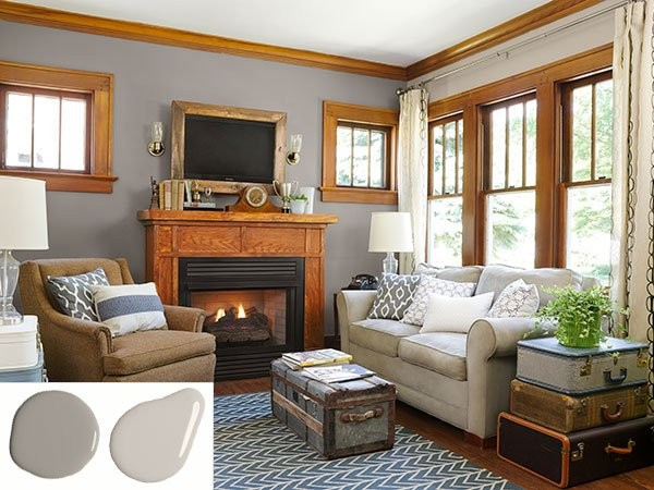 Paint Colors For Living Room With Oak Trim