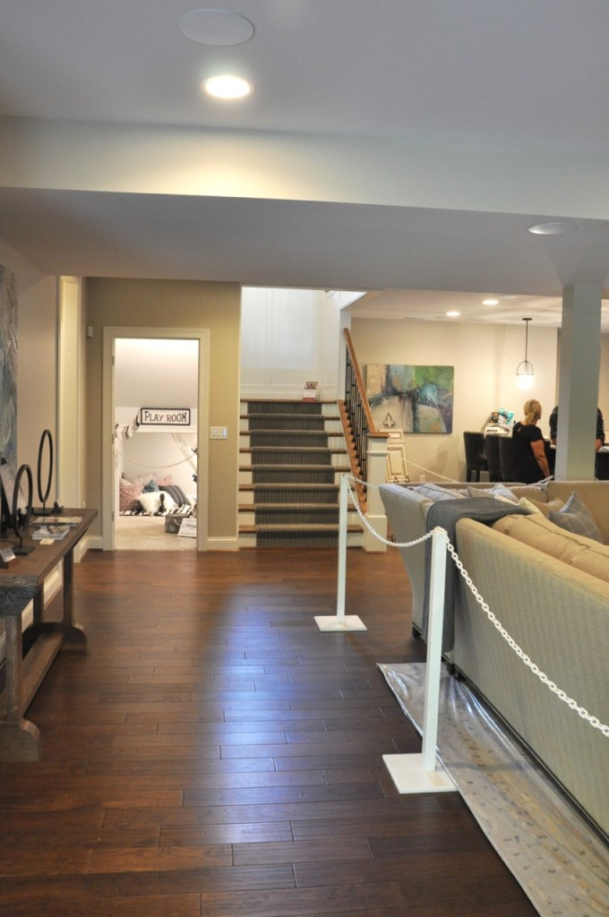 Accessible Beige Basement