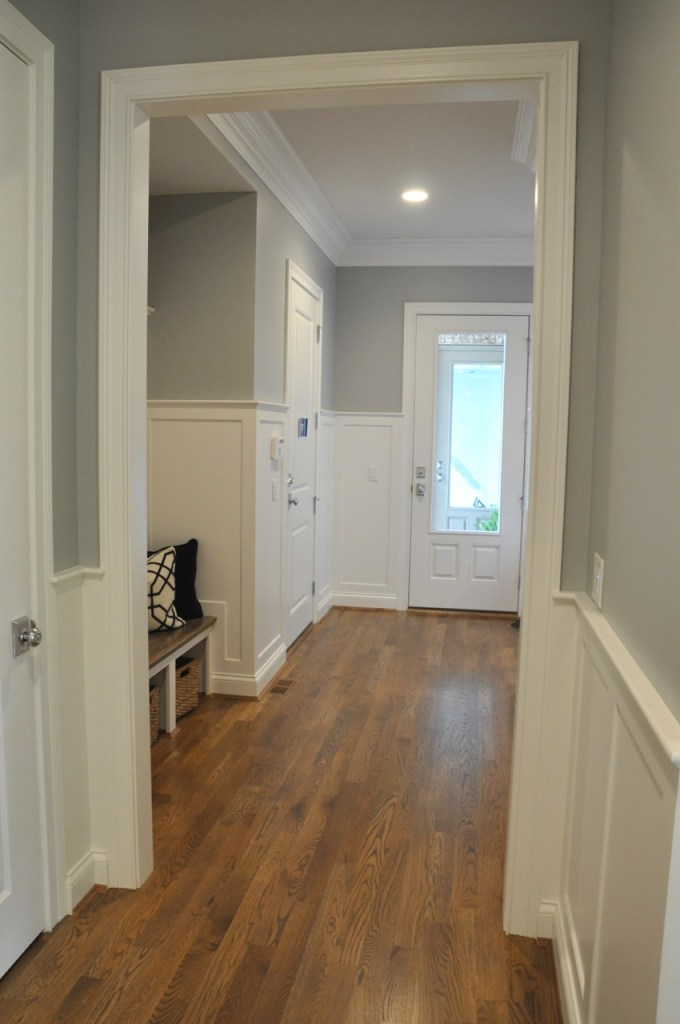 Board and Batten Hallway Paint Color SW Argos
