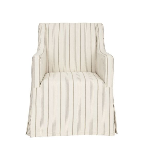 Slipcovered Arm Chair