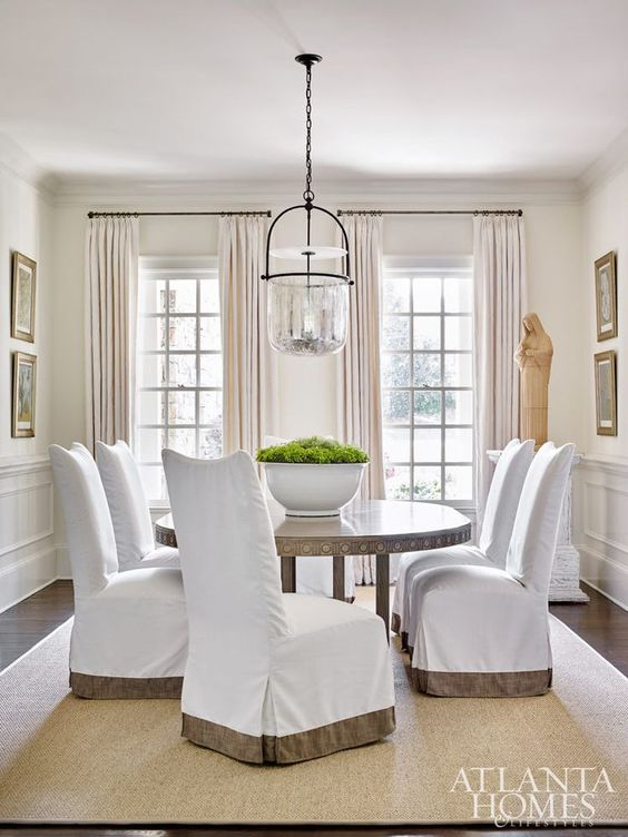 Tailored Slipcovered Dining Chairs