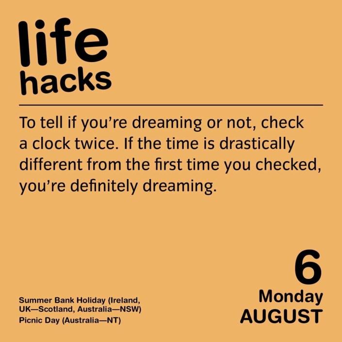 Life Hacks Page