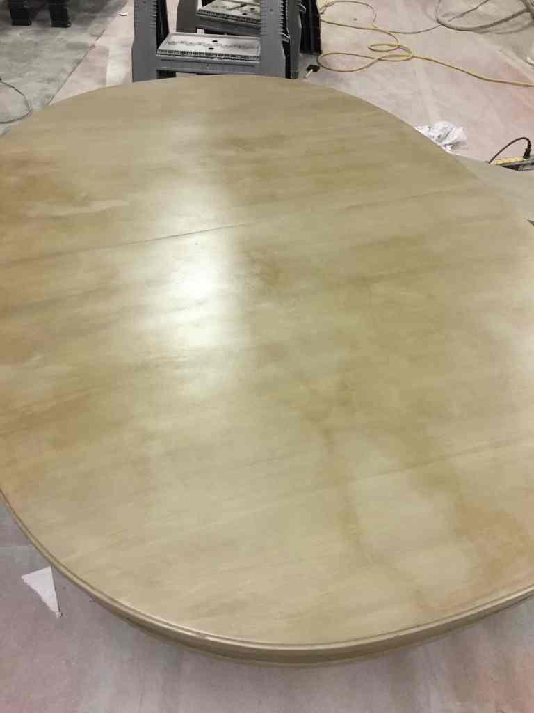 Table With Dark Wax Splotchy