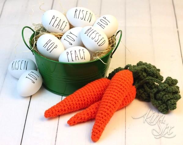 Rae Dunn Inspired Easter Eggs
