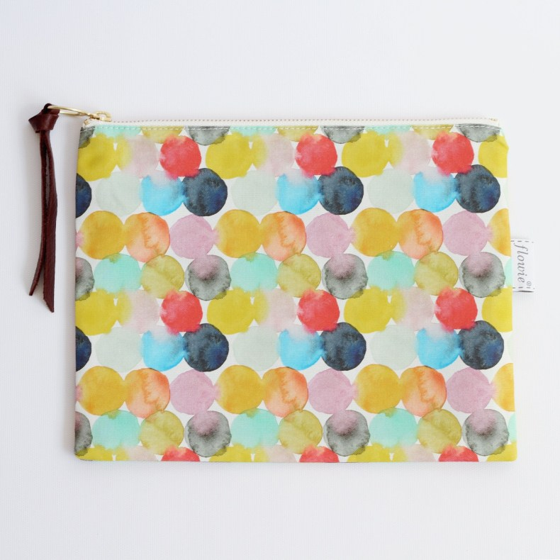 Watercolor zipper pouch