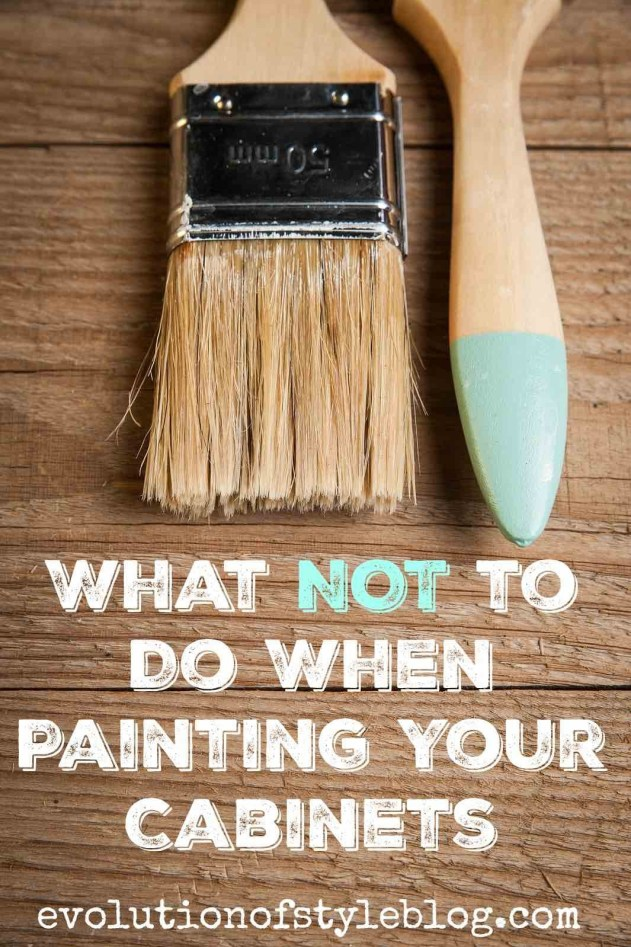 What NOT to do when painting your cabinets