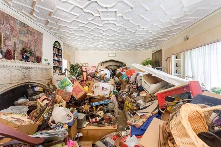 Julian Price House Living Room Before