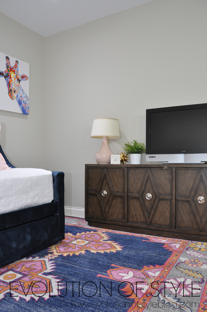 Navy and Blush Room Makeover