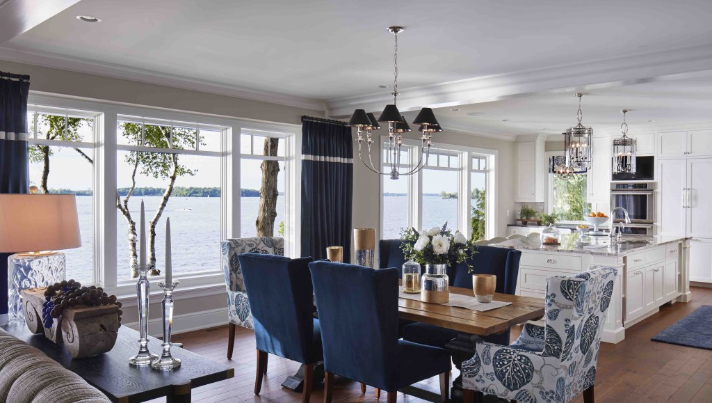 Lakeside Cottage Dining Room Hendel Homes