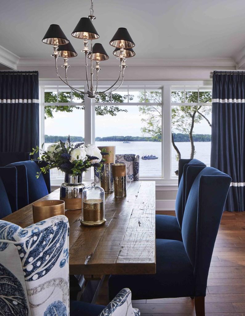 Lakeside Cottage Hendel Homes dining