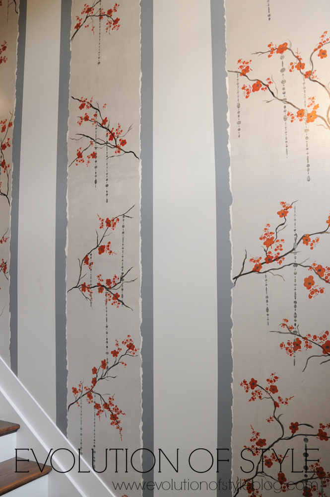 Upstairs wall treatment