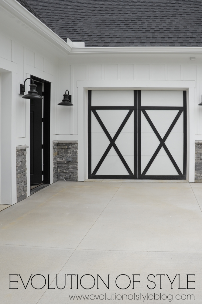 Modern farmhouse exterior garage